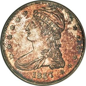 1837 50C PF obverse