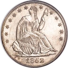 1852 O 50C MS obverse