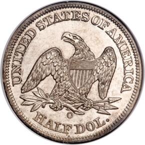 1852 O 50C MS reverse