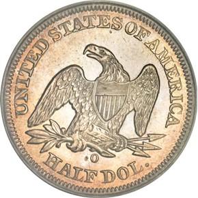 1857 O 50C MS reverse