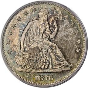 1876 S 50C MS obverse