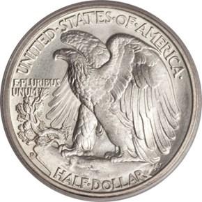 1935 D 50C MS reverse