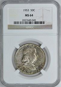 1952 50C MS obverse