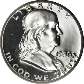 1956 TYPE 1 50C PF obverse