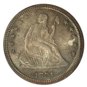 1891 25C MS obverse