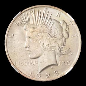 1923 S$1 MS obverse