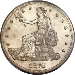 1876 CC T$1 MS obverse