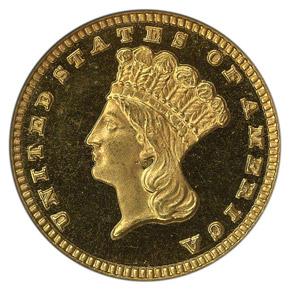 1882 G$1 PF obverse