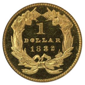 1882 G$1 PF reverse