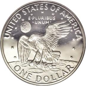 1973 S SILVER $1 PF reverse