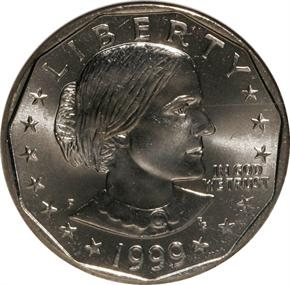1999 P $1 MS obverse