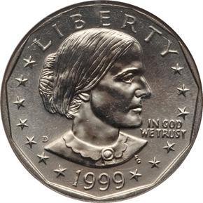 1999 D $1 MS obverse