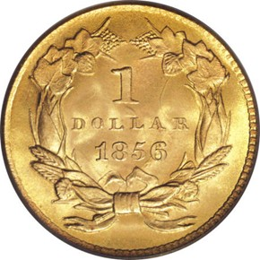 1856 G$1 MS reverse