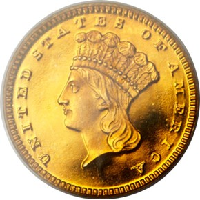 1862 G$1 PF obverse
