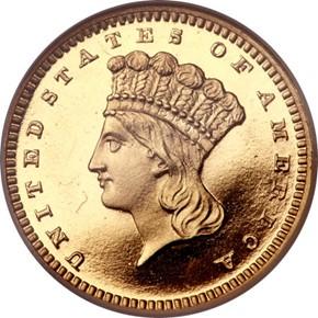 1865 G$1 PF obverse