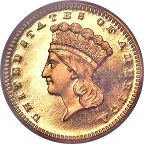 1876 G$1 PF obverse
