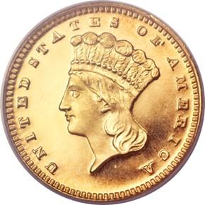 1879 G$1 PF obverse