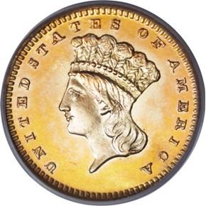 1886 G$1 PF obverse