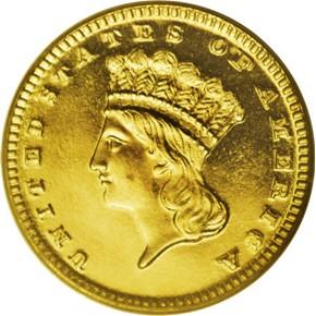 1889 G$1 PF obverse