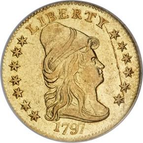 1797 $2.5 MS obverse