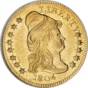 1804 13 STARS REV $2.5 MS obverse