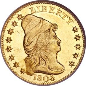 1806/4 $2.5 MS obverse
