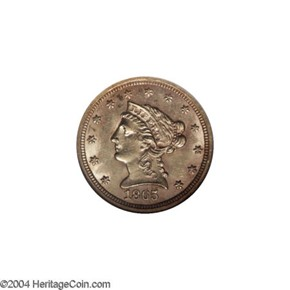 1865 S $2.5 MS obverse