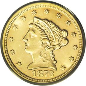 1872 $2.5 MS obverse
