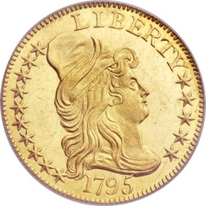 1795 LARGE EAGLE $5 MS obverse