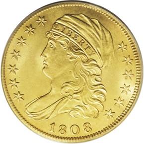 1808/7 $5 MS obverse