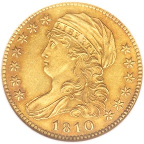 1810 SM DATE SMALL 5 $5 MS obverse