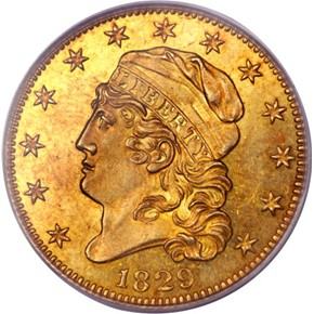 1829 LARGE DATE $5 MS obverse