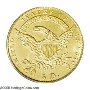 1831 $5 MS reverse