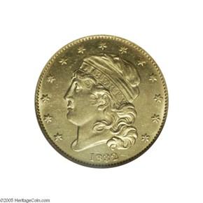 1832 13 STARS $5 MS obverse