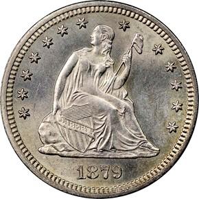 1879 25C MS obverse