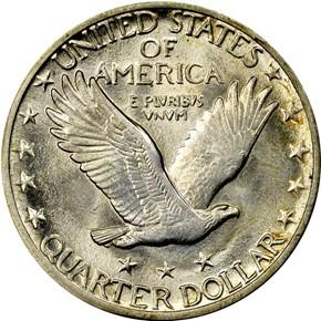 1917 D TYPE 2 25C MS reverse