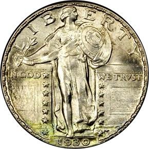 1930 25C MS obverse