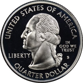 2000 S SILVER MARYLAND 25C PF reverse
