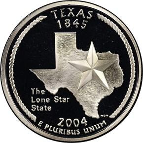 2004 S SILVER TEXAS 25C PF obverse