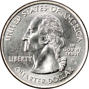 2004 D EXTRA LEAF LOW WISCONSIN 25C MS obverse