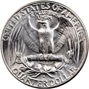 1941 D 25C MS reverse