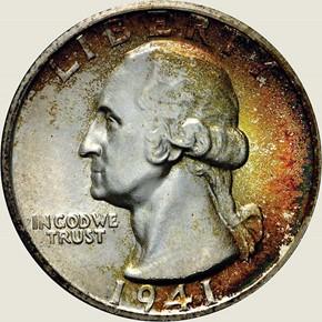 1941 S 25C MS obverse
