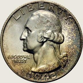 1942 S 25C MS obverse