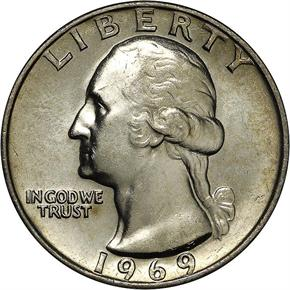 1969 25C MS obverse