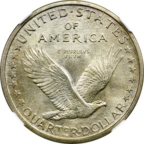 1917 D TYPE 1 25C MS reverse