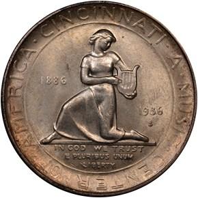 1936 S CINCINNATI 50C MS reverse
