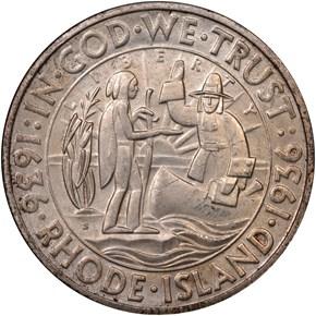 1936 S RHODE ISLAND 50C MS obverse