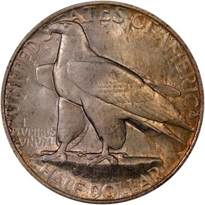 1935 CONNECTICUT 50C MS reverse