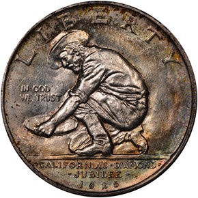 1925 S CALIFORNIA 50C MS obverse