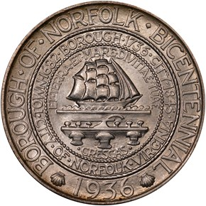 1936 NORFOLK 50C MS obverse